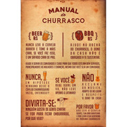 Placa Quadro Decorativo Manual Do Churrasco (v594)