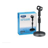 Pedestal Suporte Microfone De Mesa Studio Rádio Tripé M0019