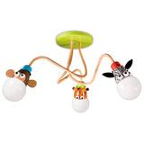 Lampara Techo Infantil Philips Zoo 3 Lamparas Incluidas
