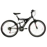 Bicicleta Track Tb300 Aro 26 18 Marchas Suspensão Dupla - Pr