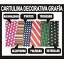 25 Cartulina Decorativa Grafía Tarjetería Manualidades