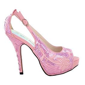Mujer Sequinse Rosa / Zapatos De Baile De Cuero Fs-8380-a22