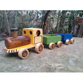 Trenzinho De Madeira (artesanal)