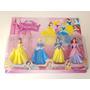 Kit 4 Princesas Disney Bella Cinderella Branca De Neve Ariel