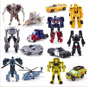 7 Peças Brinquedos Estilo Transformers Carros Robôs