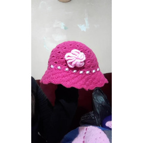 Sombrero Tipo Gorra De Lana Tejido A Crochet 8db6c2fc082
