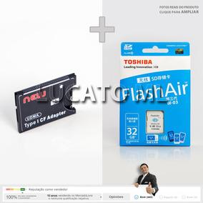 Adaptador Sd Para Cf + Cartão Memória Sd Wifi 32gb W-03 | Sj