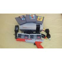 Nintendo Nes Con Trilogia Mario Bros 1,2,3 Promocion De Mayo