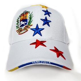 Gorra Blanca 8 Estrellas, Bordadas Venezuela Al Mayor 12und