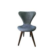 Cadeira Formiga Estofada Com Pes Palitos Cor Imbuia.