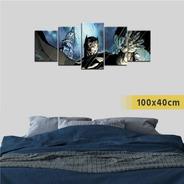 Cuadro Políptico Dc Comics Dibujo Superhéroe Batman Jim Lee