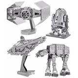 Mini Rompecabezas 3d Metálico Star Wars