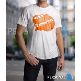 Camiseta Masculina Curso De Radiologia Laranja