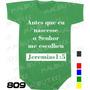 Body Evangélico Gospel Jeremias 1:5 Infantil Bebê