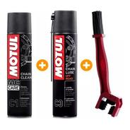 Kit Motul Limpa E Lubrifica Corrente C1 + C3 + Escova Bering