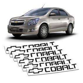 Kit 6 Apliques Adesivos Maçaneta Chevrolet Cobalt Plotter