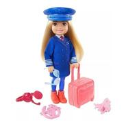 Barbie Chelsea Eu Quero Ser Piloto De Avião Mattel Ms