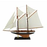 Miniatura Veleiro Caravela Classica Em Madeira 50cm