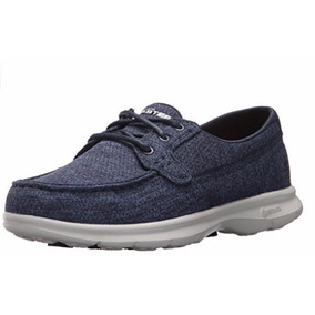 Skechers Hombre Doren Mercier Oxford, Color Gris