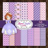 Kit Imprimible Pack Fondos Princesita Sofia 9 Clipart