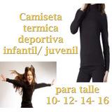 Camiseta Infantil Deportiva Térmica Nena Varon Hockey Futbol