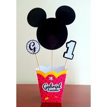 Cachepô Do Mickey (enfeite De Mesa Para Festas)