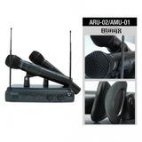 Sistema De Micrófonos Inalámbricos Aurax Aru02/amu01 Uhf