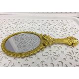 60 Espelho Mão Branca Neve Princesa Dourado Mesa Reinado