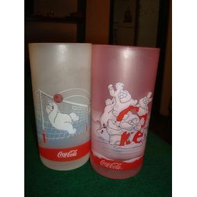 Coca Cola - Vasos (2) De Plástico Osos Polares