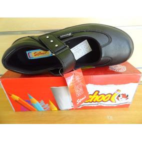Zapato Colegial Negro Sifrinas Tallas 39 Al 40 Modelo 214