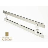 Puxador Porta (duplo) Aço Inox Escovado (aquarius). 80cm