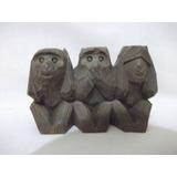 B. Antigo - Escultura Macacos Não Ouço, Não Falo E Não Vejo