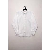 Camisa De Gabardina, Manga Larga, 100% Algodón.