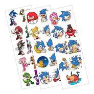 Plancha De Stickers De Videojuegos De Sonic The Hedgehog