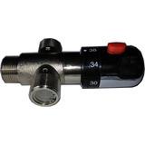 Valvula Termostatica Mezcladora 3/4 Con Filtros Ports Macho