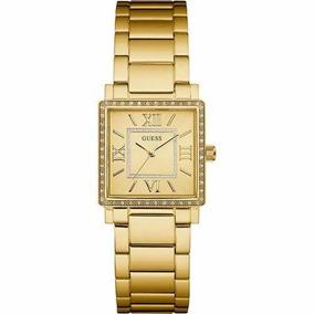 Relógio Guess W0827l2 Highline Pulseira De Aço Dourado