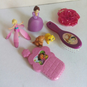 Set 7 Figuras Coleccion Princesas Hada Dora Barbie Mascotas