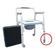 Inodoro Ortopedico-altura Regulable-aluminio-con Ruedas-