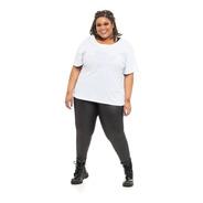 Camiseta Plus Size Wonder Size Básica Malha Branca