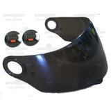 Repuesto De Visor Humo + Botones Para Casco Shaft 581 - 821