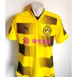 Camisa Futebol Borussia Dortmund Home 2017/18 Aubameyang 17