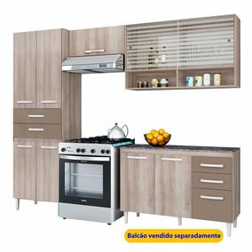 Cozinha Aramóveis Joyce 3 Peças Com 7 Portas E 2 Gavetas Tek