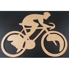 Quadro Bicicleta Mdf Aplique De Parede Vazada S/pintura 80cm