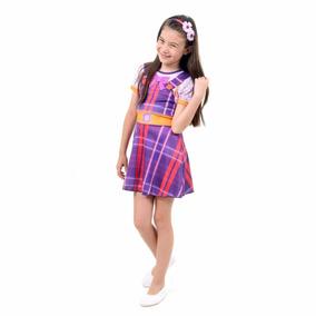 Fantasia Carinha Anjo Dulce Maria Infantil Vestido Pop P M G