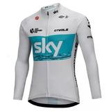 Jersey Team Sky Ciclismo Manga Larga 2018 + Envío Gratis