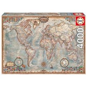Puzzle Educa X 4000 El Mundo Mapa Mundi 14827 Bigshop