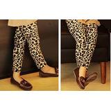 Calça Legging Leopardo Infantil Aveludado 6 Meses E 1 Ano