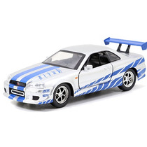 Fast And Furious Jada Nissan Skyline Gt R R34 2002 Plata1:32