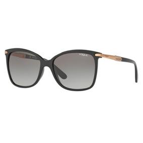Oculos Sol Vogue Vo5126sl W44 11 55 Preto Brilho Lente Cinza