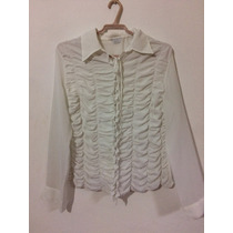 Camisa Semi Transparente Da Shoulder (tamanho 40)